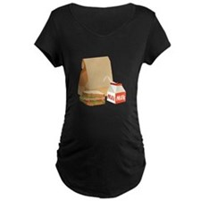 Paper Bag Milk Sandwich Maternity T-Shirt
