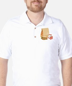 Paper Bag Milk Sandwich Golf Shirt