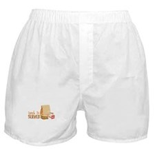 Lunch Is Served Boxer Shorts