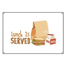 Lunch Is Served Banner