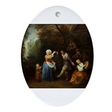 The Country Dance Ornament (Oval)