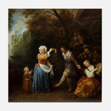 The Country Dance Tile Coaster
