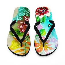 04 Asia Batik Art Flip Flops