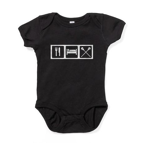 Eat, Sleep, Lacrosse Baby Bodysuit