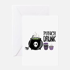 PUNCH DRUNK Greeting Cards