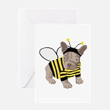 Halloween French Bulldog Bumble Bee Greeting Cards