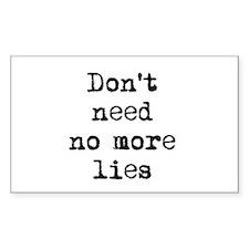 Lies Rectangle Decal