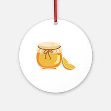 Orange Marmalade Jelly Jar Ornament (Round)