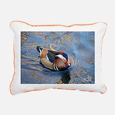 Mandarin Kaleidoscope Re Rectangular Canvas Pillow