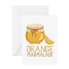 ORANGE MARMALADE Greeting Cards
