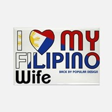 I Love My Filipino Wife Magnets