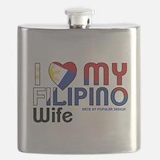 I Love My Filipino Wife Flask
