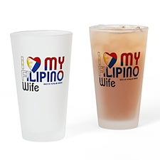 I Love My Filipino Wife Drinking Glass