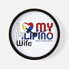I Love My Filipino Wife Wall Clock
