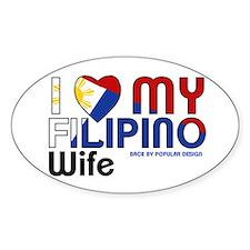 I Love My Filipino Wife Decal