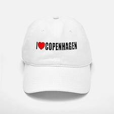 I Love Copenhagen, Denmark Baseball Baseball Cap