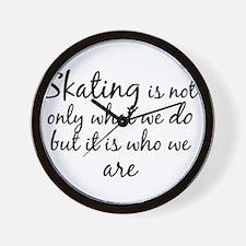 Skating Who We Are Wall Clock