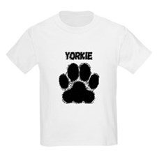 Yorkie Distressed Paw Print T-Shirt