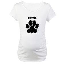 Yorkie Distressed Paw Print Shirt