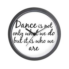 DanceWhoWeAre Wall Clock