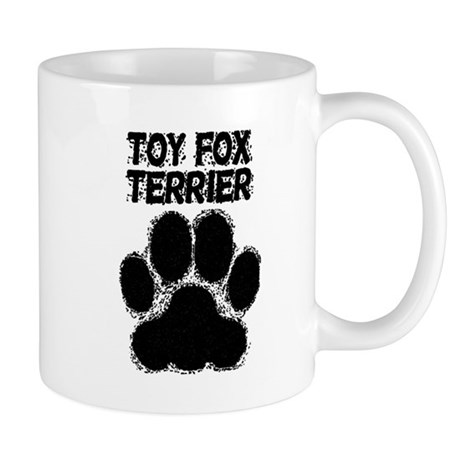 Toy Fox Terrier Distressed Paw Print Mugs