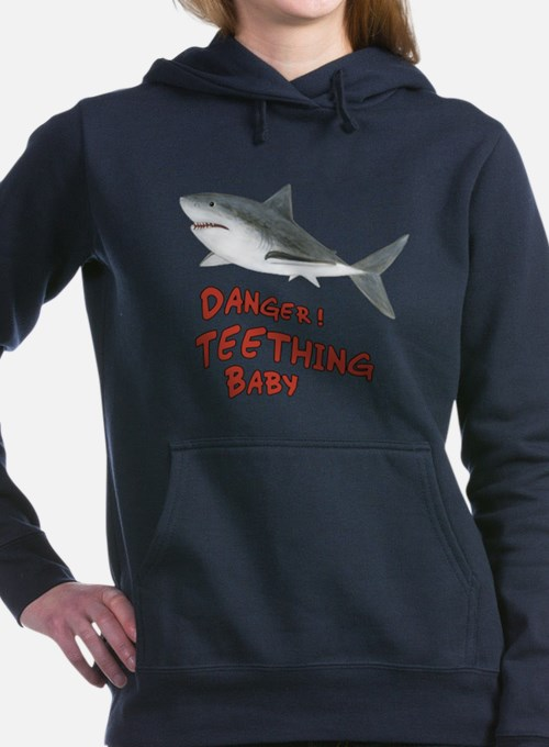 Shark - Danger Teething Baby Hooded Sweatshirt