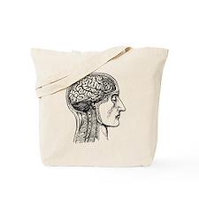 The Human Brain And Heart Tote Bag