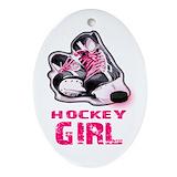 Girl ice skater Oval Ornaments