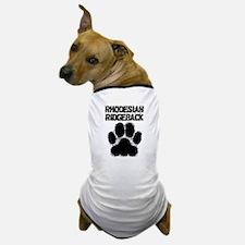 Rhodesian Ridgeback Distressed Paw Print Dog T-Shi