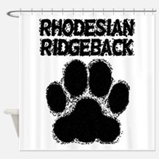 Rhodesian Ridgeback Distressed Paw Print Shower Cu