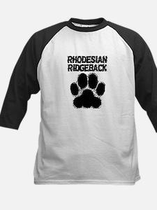 Rhodesian Ridgeback Distressed Paw Print Baseball