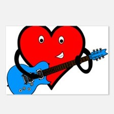 Guitar Heart Postcards (Package of 8)