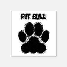 Pit Bull Distressed Paw Print Sticker