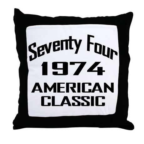 1974, 40th Birthday Throw Pillow