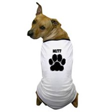 Mutt Distressed Paw Print Dog T-Shirt