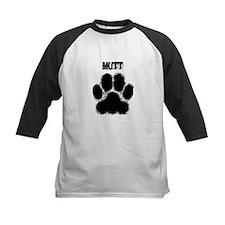 Mutt Distressed Paw Print Baseball Jersey
