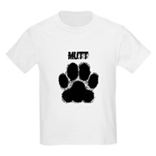 Mutt Distressed Paw Print T-Shirt