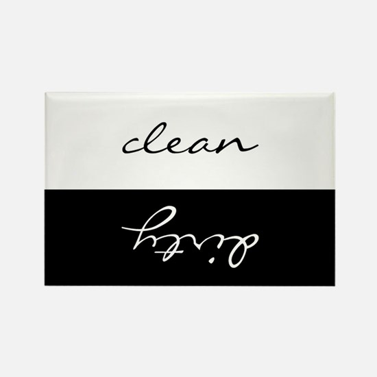 Clean Or Dirty Dishwasher Rectangle Magnet