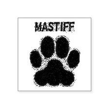 Mastiff Distressed Paw Print Sticker