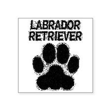 Labrador Retriever Distressed Paw Print Sticker