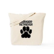 Labrador Retriever Distressed Paw Print Tote Bag