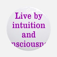 Intuition Consciousness Ornament (Round)