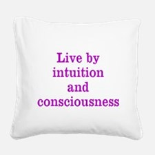 Intuition Consciousness Square Canvas Pillow