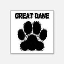Great Dane Distressed Paw Print Sticker
