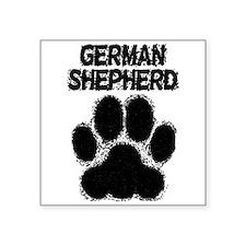 German Shepherd Distressed Paw Print Sticker