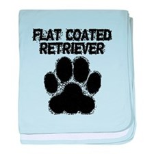 Flat-Coated Retriever Distressed Paw Print baby bl