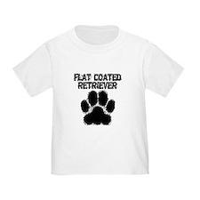 Flat-Coated Retriever Distressed Paw Print T-Shirt