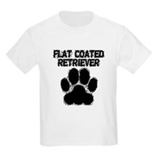 Flat-Coated Retriever Distressed Paw Print T-Shirt