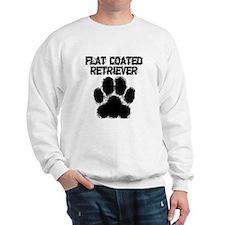 Flat-Coated Retriever Distressed Paw Print Sweatsh
