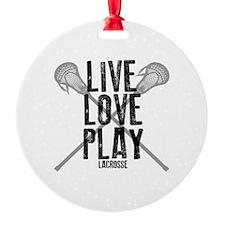 Live, Love, Play Lacrosse Ornament